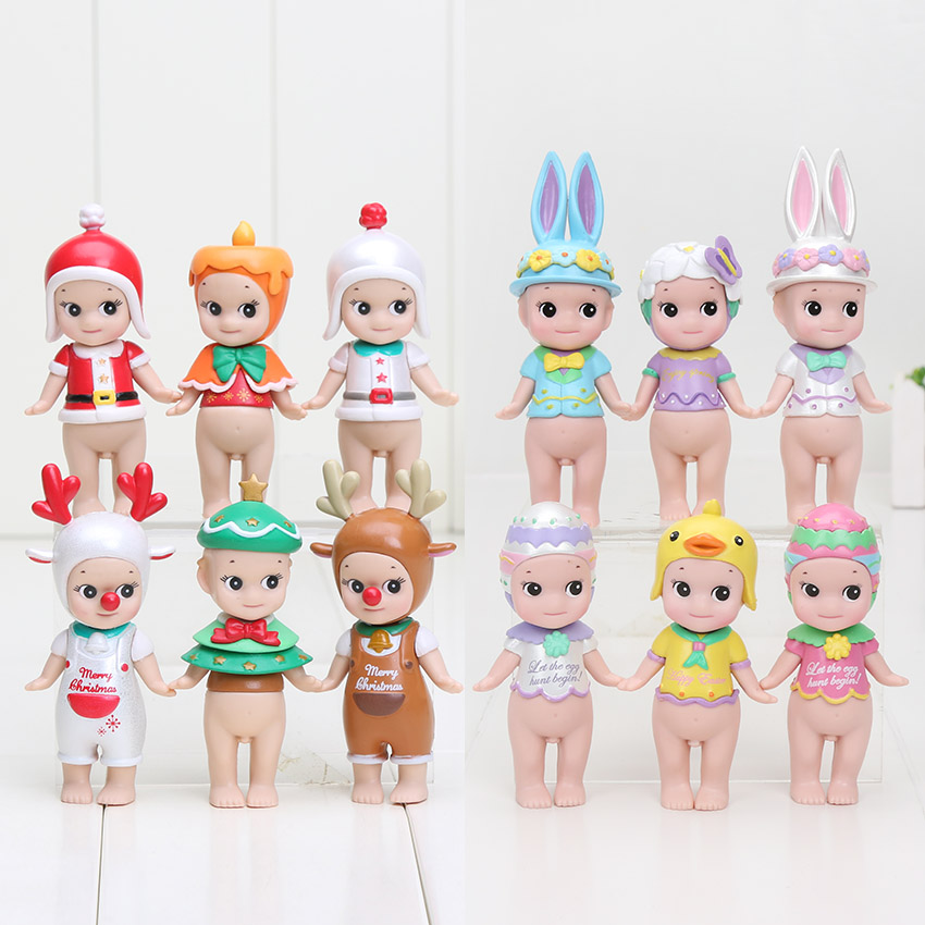 6pcs/set Sonny Angel Figures Christmas Series Easter Series PVC Action Figures Collectible Model Toys christmas gift 8cm(China (Mainland))
