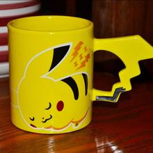 Hot Fashion Creative Pokemon Pikachu Travel Coffee Mug Ceramic Tea Water Bottle Cup Adult Kids Gifts Espresso Cups(China (Mainland))
