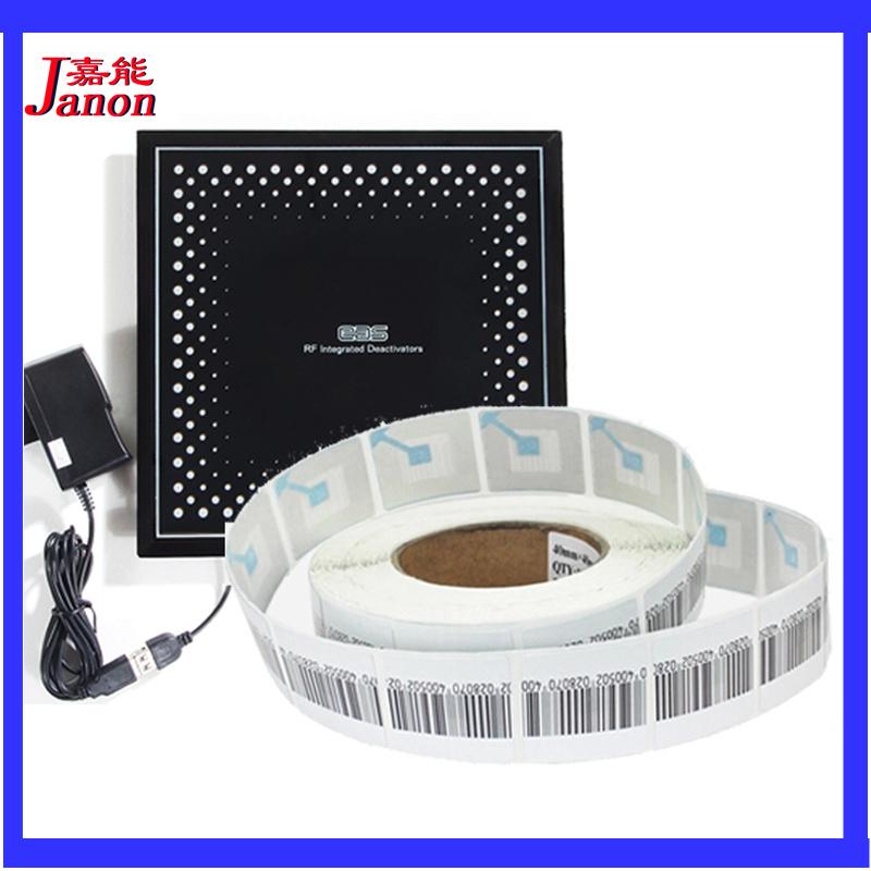 eas soft label 8.2mhz 1000pcs and eas soft label deactivator 1pcs(China (Mainland))