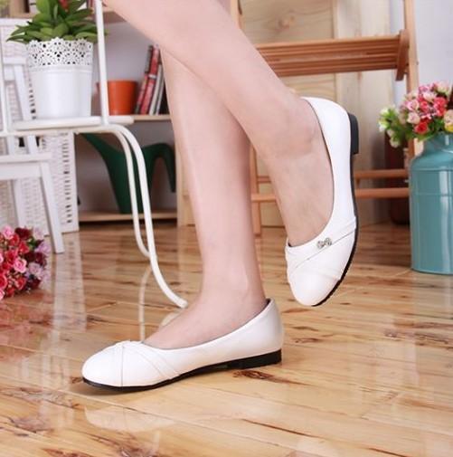 Новый стиль женщины квартиры Горный Хрусталь Металл Уютный дикие плоские туфли женщина ...