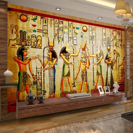 Mural egyptian figures large mural bedroom living room tv for Ancient egyptian mural