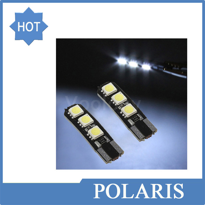 4pcs T10 W5W Canbus 6 SMD 5050 LED Interior Bulb Lamp Wedge Reading Door Light License Plate Light Auto Led Car Led Light Bulb(China (Mainland))