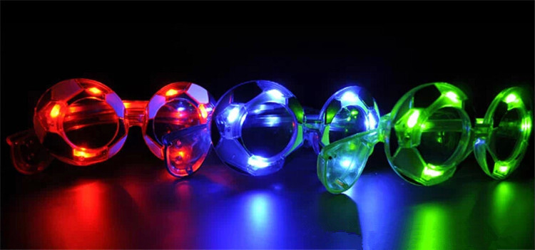 50pcs/lot Event party supplies 2015 flash football galsses LED glasses lights masquerade mask decorative game celebrate props(China (Mainland))