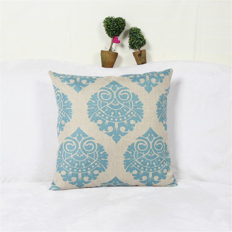 Modern style decorative throw pillow covers Cotton Linen Cushion cover Pillow case Bedding Sofa Car seat size 45*45cm