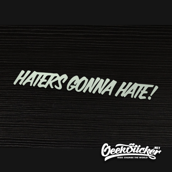 hellaflush Haters gonna hate reflective car stickers car window decals vinyl Car Styling for BMW VW Toyota honda silver white