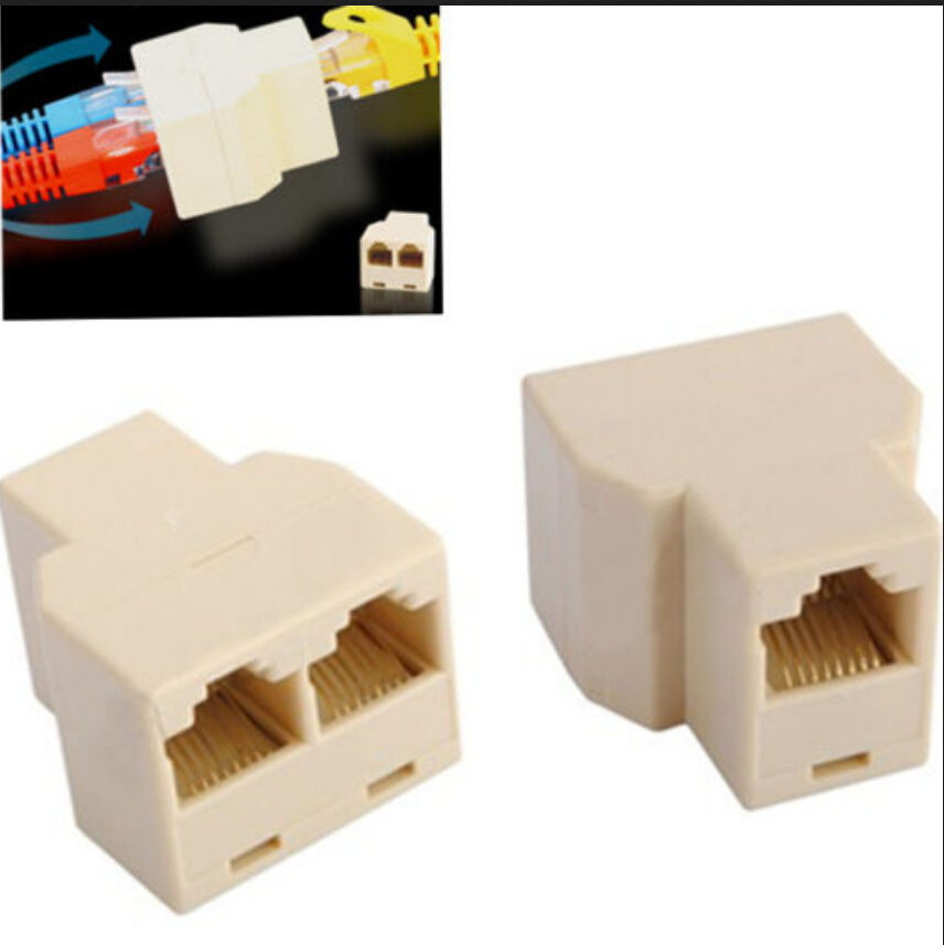 1pcs new 3 Sockets RJ45 6 LAN Ethernet Splitter Adapter Internet Connector Cable free shipping A9-004(China (Mainland))