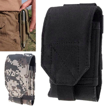 New Army Camo Bag Mobile Phone Hook Loop Belt Pouch Sleeve Holster Cover Case middle size For CUBOT X15 X12 Xiaomi Redmi Note 2