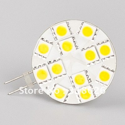 Free Shipment G4 LED Lamp(wide volt AC/DC10-30V) 12 LED 5050 SMD Warm White Marine Camper Carts Cabinet Lighting Bulb 20pcs/lot(Hong Kong)