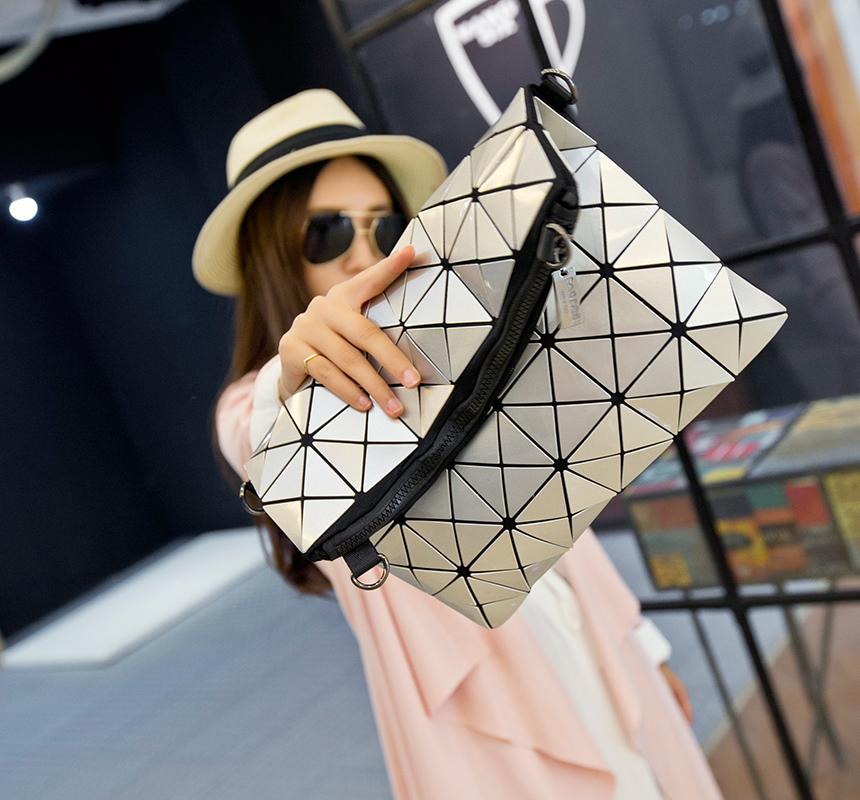 Hot Sale Famous Brand issey Miyake Handbag Diamond Quilted Shoulder Bag Chain Fold Over Women Bag BaoBao<br><br>Aliexpress
