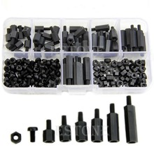 M3 Nylon Black Hex M-F Spacers/ Screws/ Nuts Assorted Kit, Standoff  Free shipping(China (Mainland))