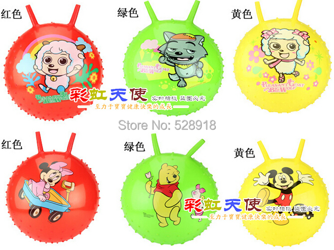 Hot Sale Children increased thickening claw / 10 inch handle inflatable jumping toys / jumping ball(China (Mainland))