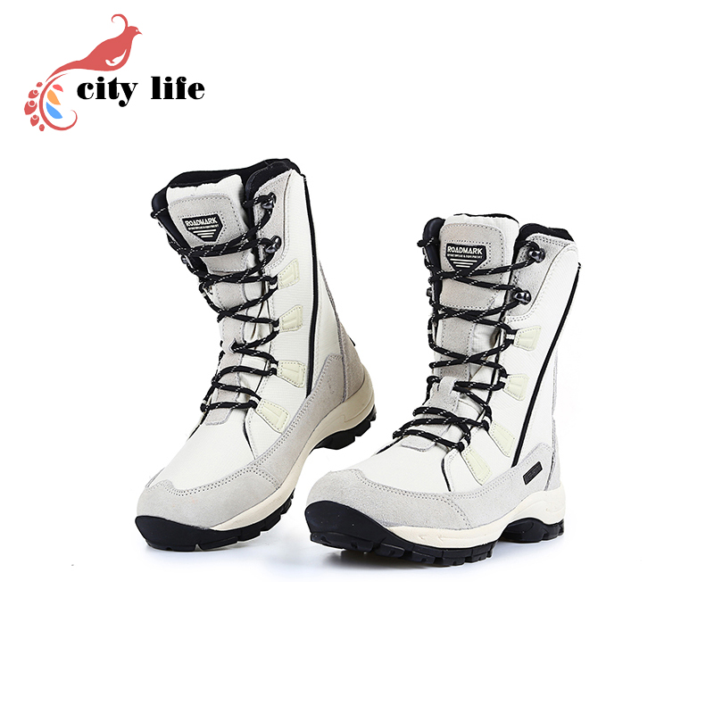Top Quality Ski Snow Shoes Womens Russia Flat Genuine Leather Winter Boots Extra Wide Outdoor Shoes<br><br>Aliexpress