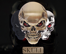 3D Skull zinc alloy Metal Skeleton Crossbones Car Motorcycle Sticker Label Skull Emblem Badge car styling stickers accessories