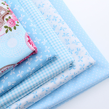 Cotton Fabric Fat Quaters Tilda Cloth Quilting Scrapbooking Patchwork Fabric 8 Designs Mixed Blue Color Series 50*50CM
