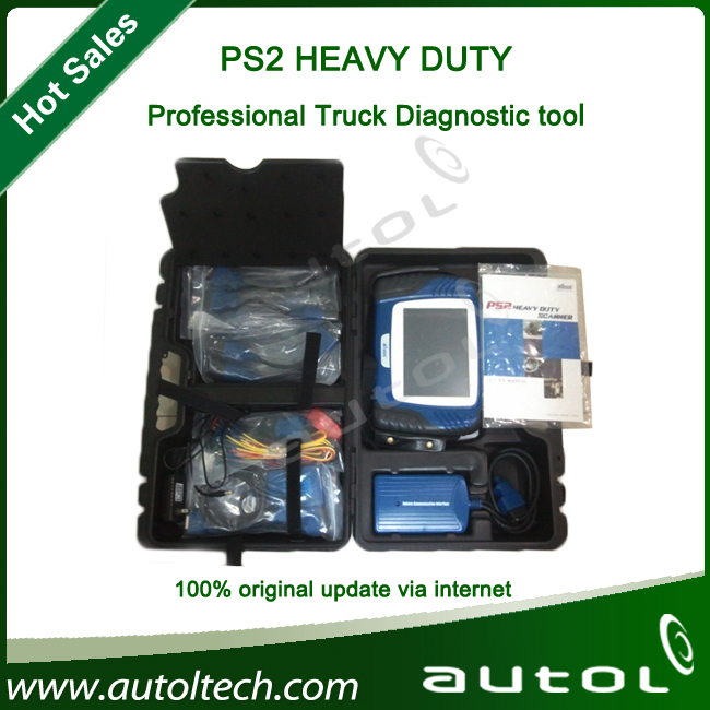 Original XTOOL PS2 Heavy Duty Universal Truck Professional Diagnostic Tool Xtool PS2 truck Update(China (Mainland))