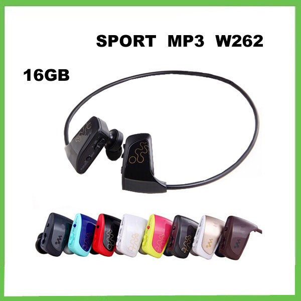 16G W262 mp3 player,W262 music player,sport mp3 headphone earphone high sound quality+ with logo+retail package,Free Shipping(China (Mainland))