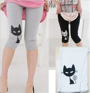 free shipping high elastic high quality modal small cat maternity pants,7 pants,pregant woman legging 7 colors opitionalgs