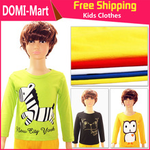 New Arrival Stylish cotton children t shirts long sleeve t-shirts cartoon t-shirt girls and boys' t shirt Wholesale