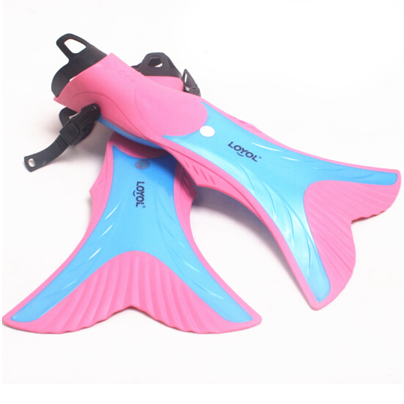 H777 Free shipping 1pair Children Kids Swimming Diving Snorkeling Fins Flippers Scuba Set Gear Underwater(China (Mainland))