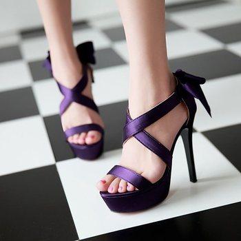 High heels shoes platform purple - photo#19
