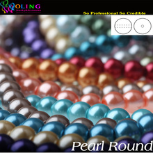 6MM 100PCS glass Pearls beads round pearl imitation DIY Bracelet earrings bead choker necklace Jewelry Making Mixed multicolor(China (Mainland))