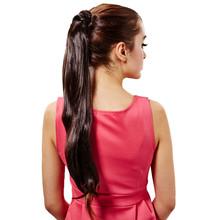 Feitong High Temperature Wire Wig Ponytail Long Straight Hair Micro-volumes Free Shipping(China (Mainland))