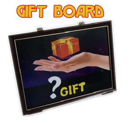 Free shipping 4D Gift Board Trick,stage magic props,Illusions,close up,Fun,Party Trick,magic show,kids magic<br><br>Aliexpress
