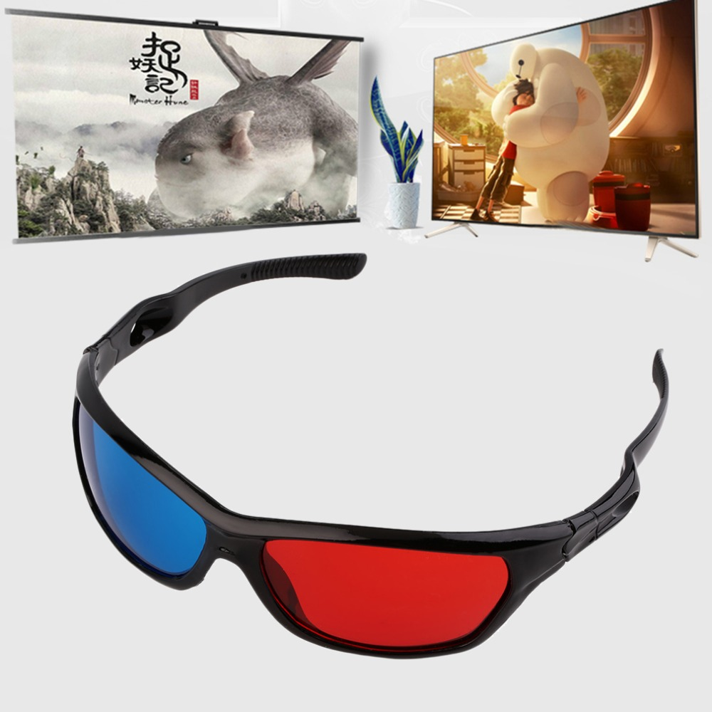 New 3D Plastic glasses/Oculos/Red Blue Cyan 3D glass Anaglyph 3D vision/cinema Universal Wholesale(China (Mainland))