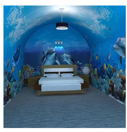 3d en trois dimensions murale papier peint dauphins marins enfants chambre papier peint salon. Black Bedroom Furniture Sets. Home Design Ideas