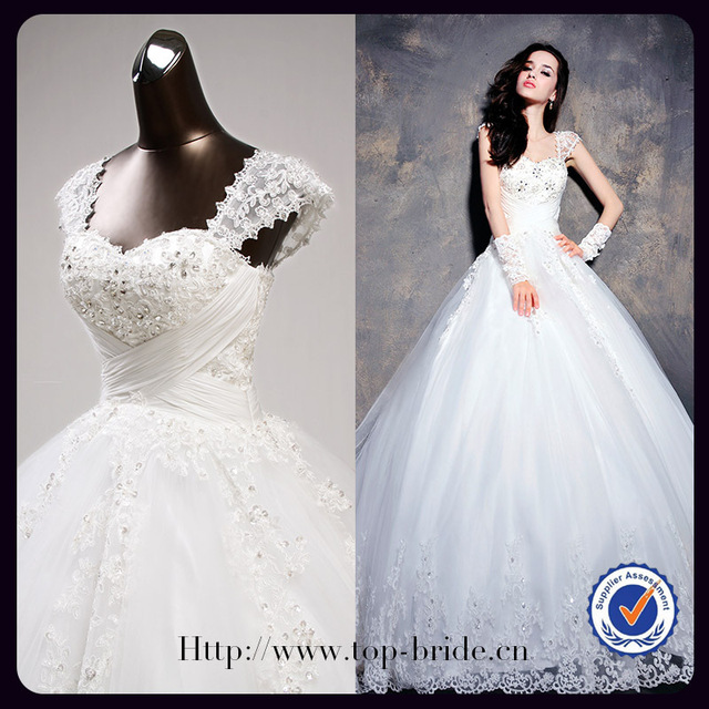 S619 Real Elegant Detachable Straps Vintage Peacock High Quality Wedding Dress