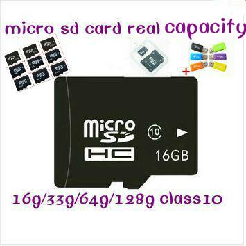 Real Capacity Micro SD Card Memory Card 4GB 8GB 16GB 32GB TF Card Flash Memory Gift