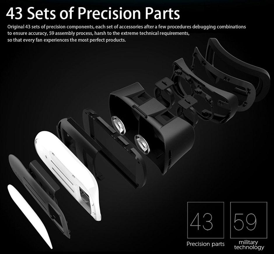 ถูก VRกล่องII 2.0รุ่นG Oogleกระดาษแข็งVRแว่นตาความจริงเสมือนแว่นตา3Dสมาร์ทโทรศัพท์+บลูทูธควบคุมระยะไกล