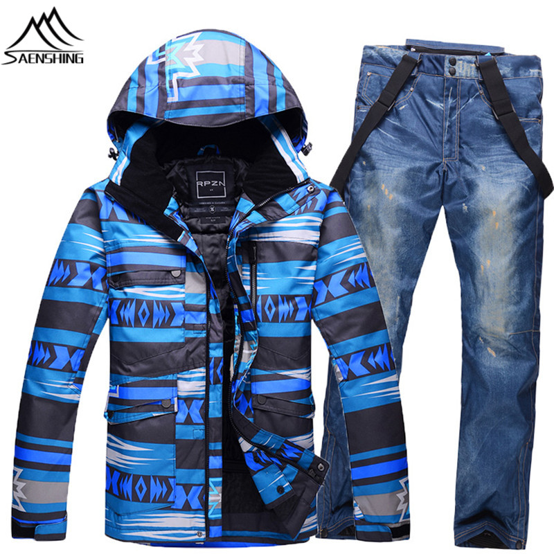 High-Q Ski Suit Men Thicken Warmth Snow Sets Cheap Price Winter Men Ski Suit Breathable Waterproof Snowboard Jacket And Pants(China (Mainland))