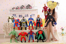 The Avengers from Marvel Plush Doll Spiderman/Batman/Superman/Captain America/Hulk/Thor/Ironman 16''/40cm  Free shipping(China (Mainland))