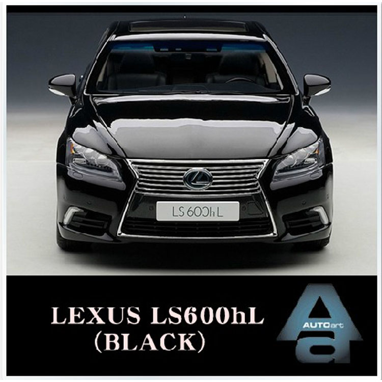 1:18 Autoart LEXUS LS600hL alloy black Lexus Alto car model(China (Mainland))
