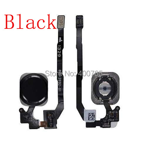 (05S505B)(1PC/Lot) Free Shipping 100% High Quality Guarantee Black Touch ID Sensor Home Button Flex Cable Ribbon for iPhone 5S