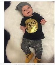 Retai 2016 baby boy clothes set cotton Fashion letters printed T-shirt+pants 2pcs Infant clothes newborn baby clothing set