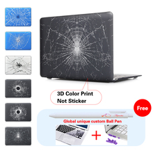 Broken Cracked Glass Print Black Laptop Case For Mac Book Pro 13 Cover 13.3 13″ Inch Case For Laptop Cover Apple Macbook Pro Air