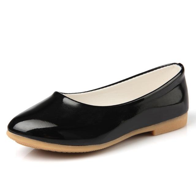 2016 весной детей на плоской подошве дети конфеты цвет кроссовки девушки сплошной цвет принцесса обуви белый черный розовый кожаные кроссовки