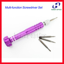 Quality colorful multi-function screwdriver 4 pcs screw bits a kit glasses clock watch mobile phone repairing tool(China (Mainland))