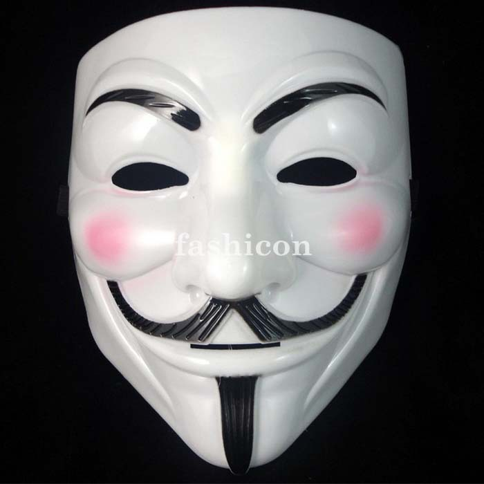 High Quality V For Vendetta Anonymous Guy Fawkes The Mask Halloween Cosplay Masks High Quality(China (Mainland))