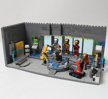 2016 Fashion SY305 Super hero underground laboratory base Building Blocks Sets Bricks Action Figures Toys