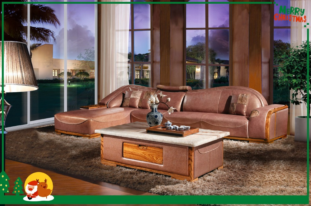 Leather Sofa Sectional Bed Living Room Furniture(China (Mainland))
