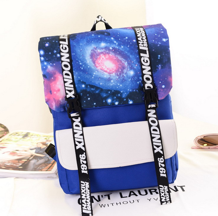 Creative Stars 2015 New Backpack, Fashion Of The Wind Outdoor Travel PU Leisure Backpack Leisure Shopping Sports Backpack(China (Mainland))
