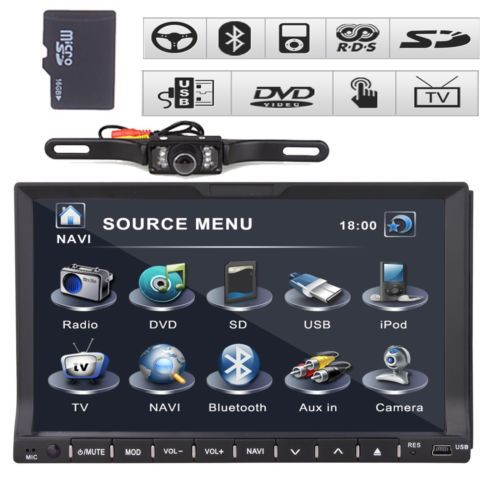 """7"""" Double 2 Din Car DVD Player None GPS built-in bluetooth Car Radio StereoVCD CD Player+ Ipod +TV Head Unit+Free Rear Camera(China (Mainland))"""