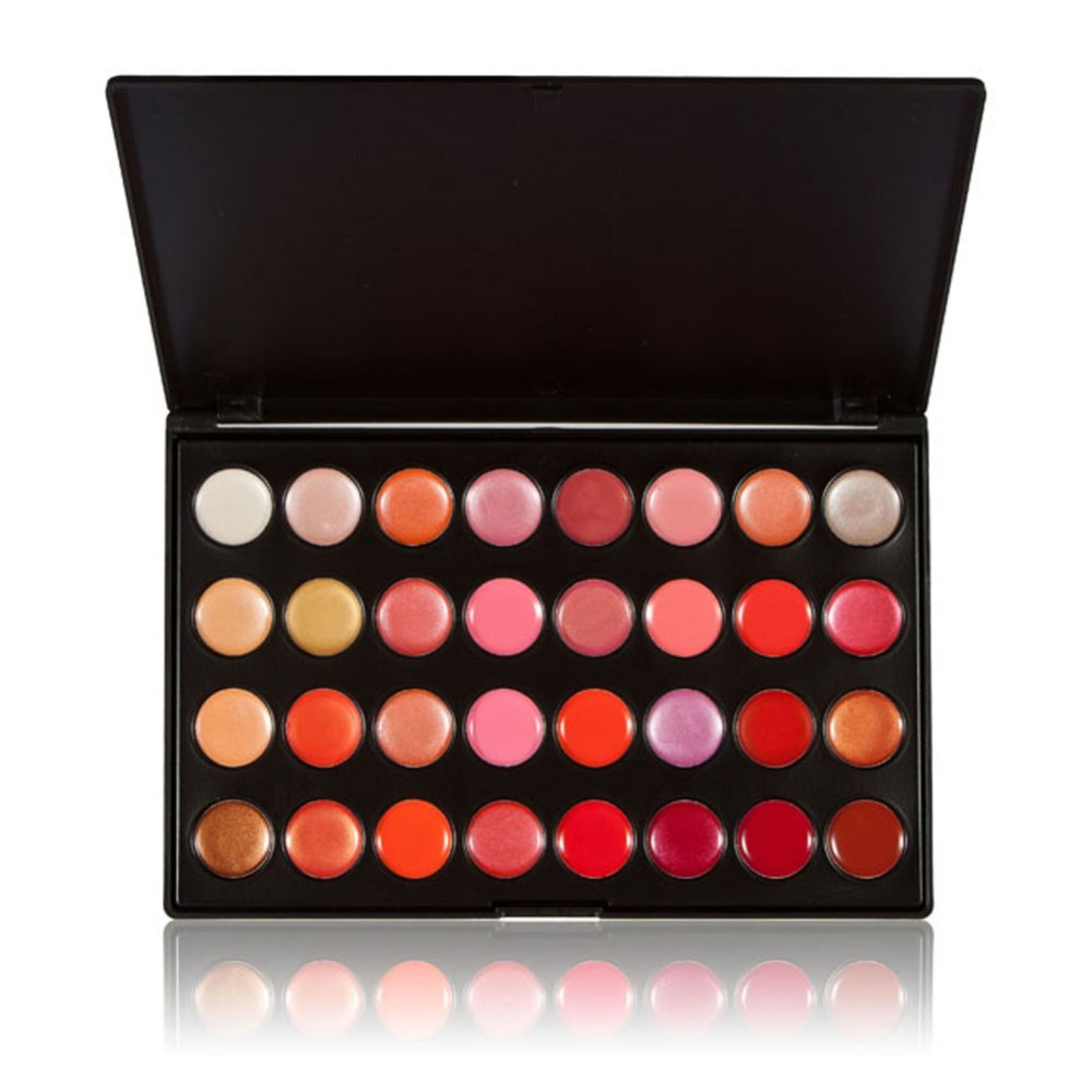 New Arrival Professional 32 Color Gorgeous Lip Gloss Lipstick Makeup Cosmetic Palette NG4S(China (Mainland))