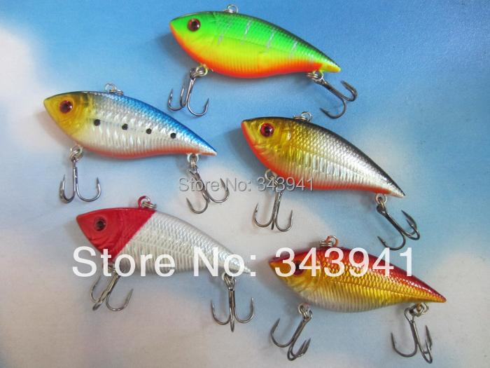 5 pieces VIB Fishing Lure 10.5g 7cm Noise Model Crankbait Hard Bait Vibration Wobbler Rattle Hook - discover fun store