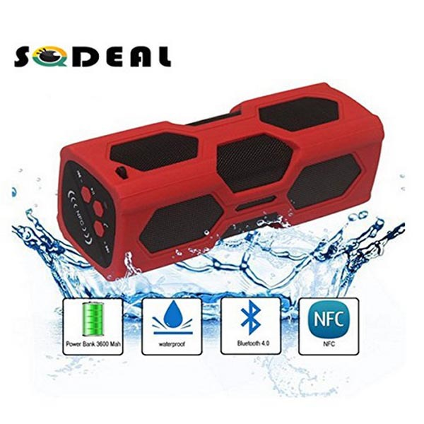 Mini Portable Hifi Stereo Wireless Bluetooth V4.0 NFC Waterproof IPX4 Shockproof Dust proof Outdoor Shower Speaker Subwoofer(China (Mainland))