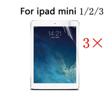 3 Pcs/Lot Clear HD LCD High Quality Screen Protector Cover Guard Film For Apple iPad Mini 1 2 3 (7.9 Inch)