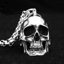 Top Quality Titanium Steel Pendant Skull Punk Vintage Pendants 316L Stainless Steel Fit Necklaces Chain For Man Fashion Jewelry(China (Mainland))